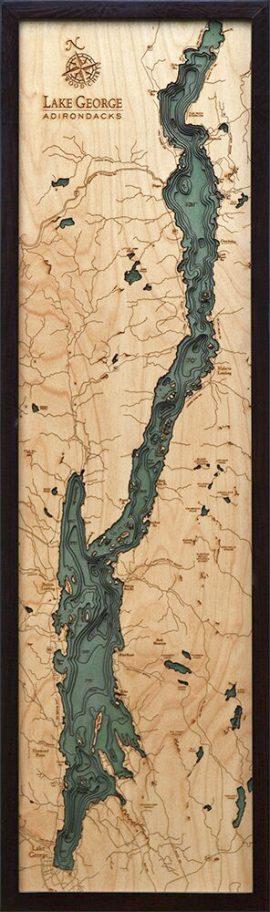 Bathymetric Map Lake George, New York