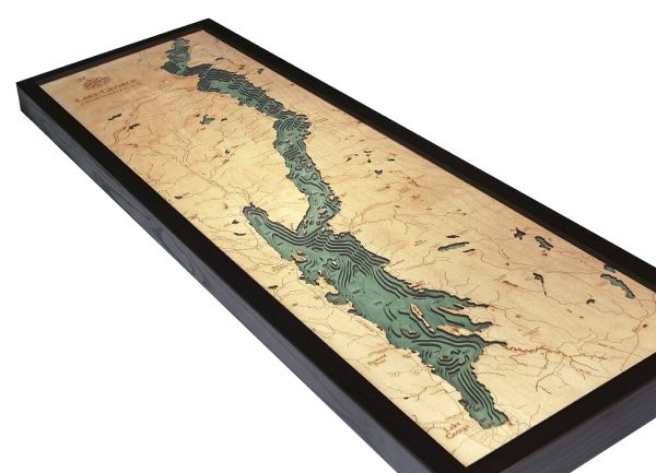 Bathymetric Map Lake George, New York