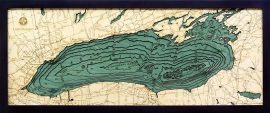 Bathymetric Map Lake Ontario, New York