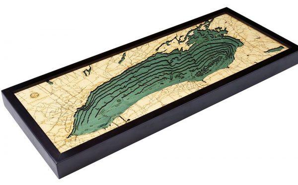 Bathymetric Map Lake Ontario, New York