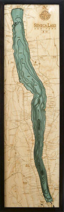 Bathymetric Map Seneca Lake, New York