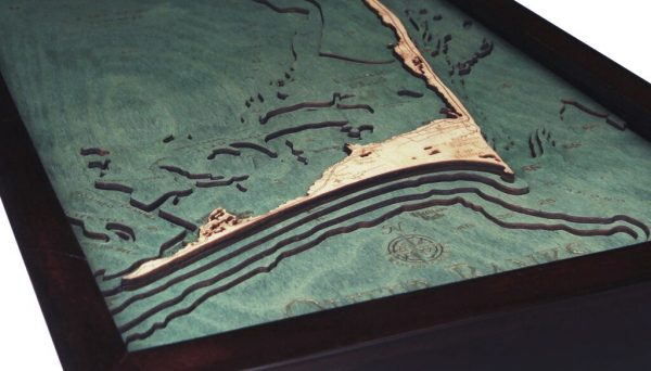 Bathymetric Map Outer Banks, North Carolina