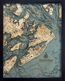 Bathymetric Map Hilton Head, South Carolina