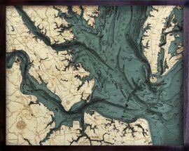 Bathymetric Map Norfolk, Virginia