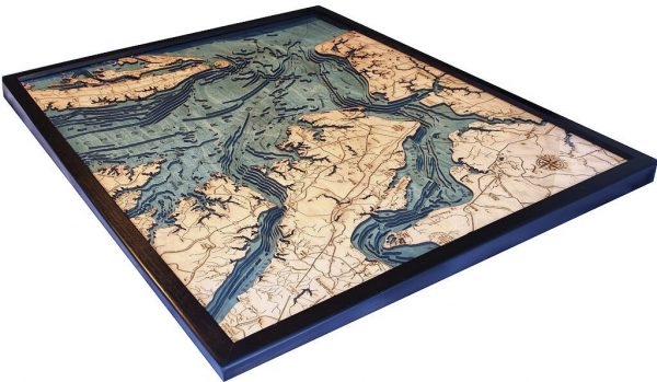 Bathymetric Map Norfolk, Virginia