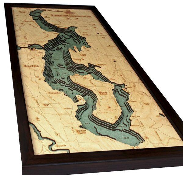 Bathymetric Map Lake Washington, Washington