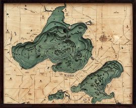 Bathymetric Map Lake Mendota, Wisconsin