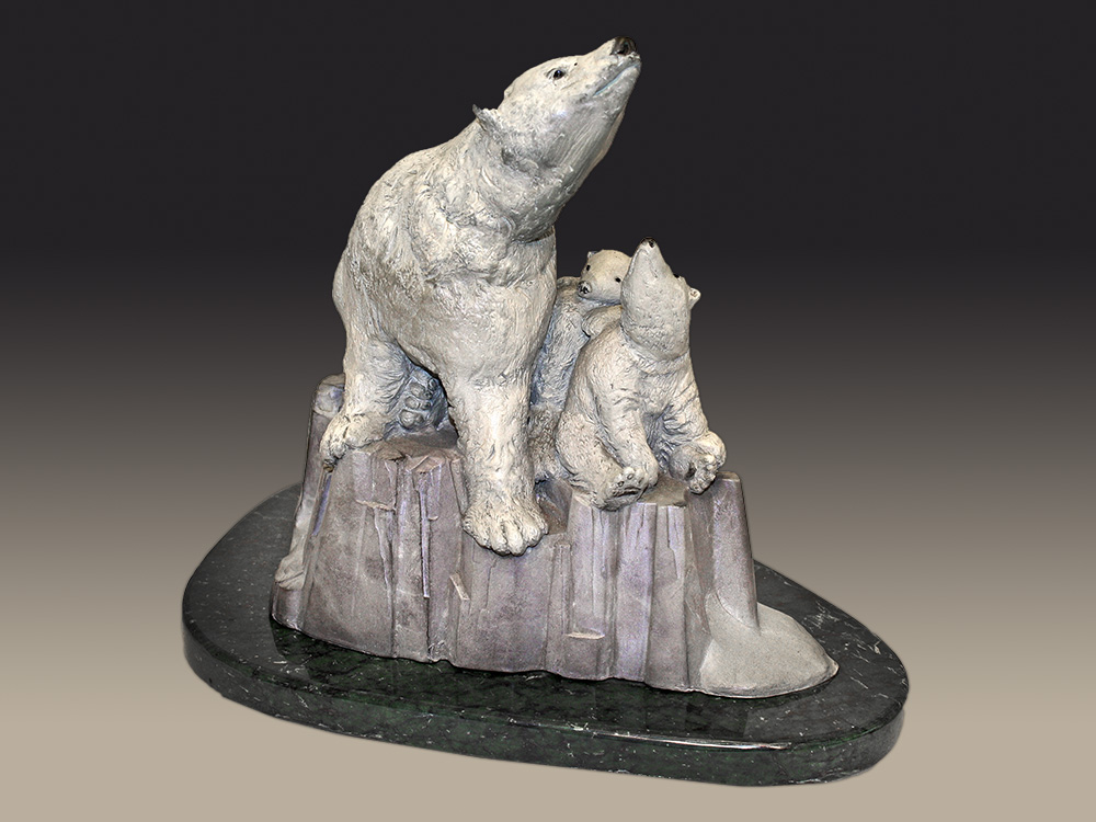Chris Bell Limited Edition Bronze - Polar Bears