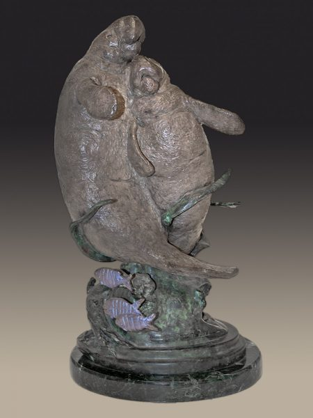 Chris Bell Limited Edition Bronze - Manatees