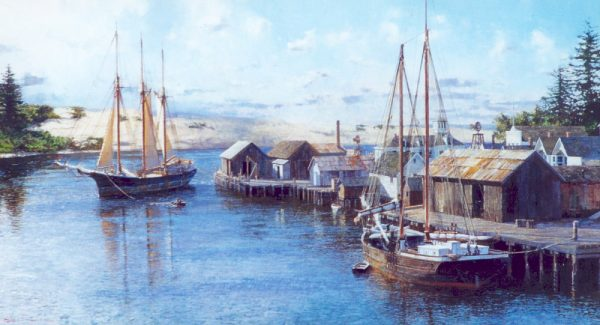 David Thimgan Limited Edition Print - Hugh Hogan Arriving at Florence, Oregon