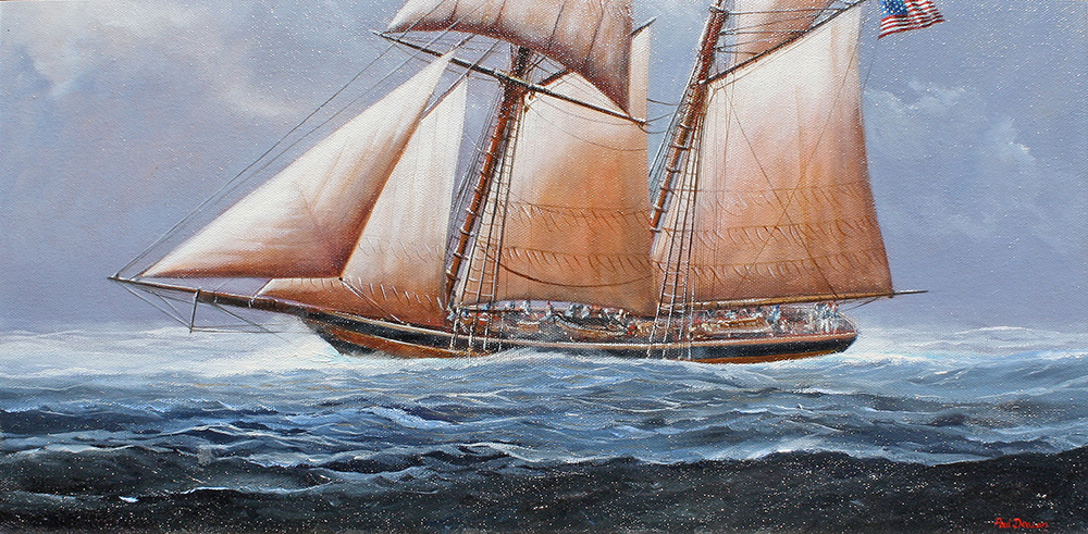 Paul Deacon Original Oil Painting - Baltimore Clipper