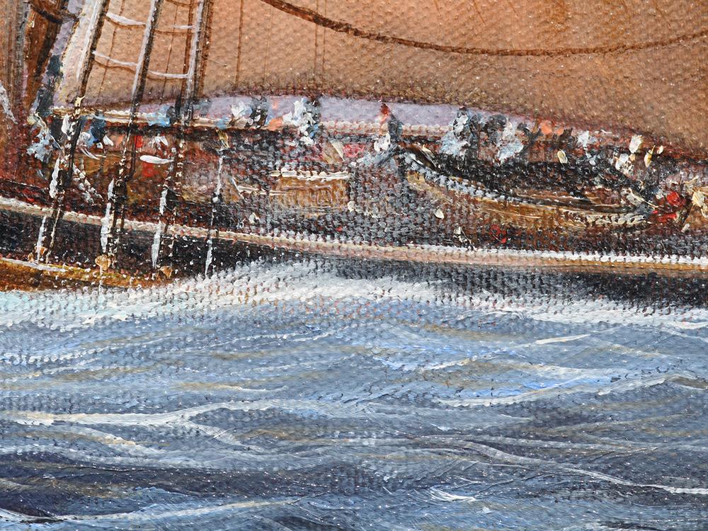 Paul Deacon Original Oil Painting - Baltimore Clipper