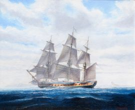 Paul Deacon Original Oil Painting - Hermione 1779