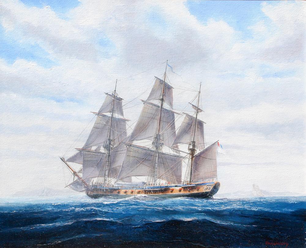 Paul Deacon Original Oil Painting - Hermione 1779