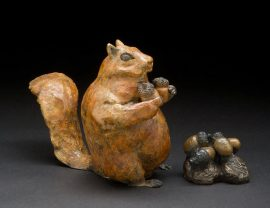 Chris Deverill Bronze Art - Too Many Nuts