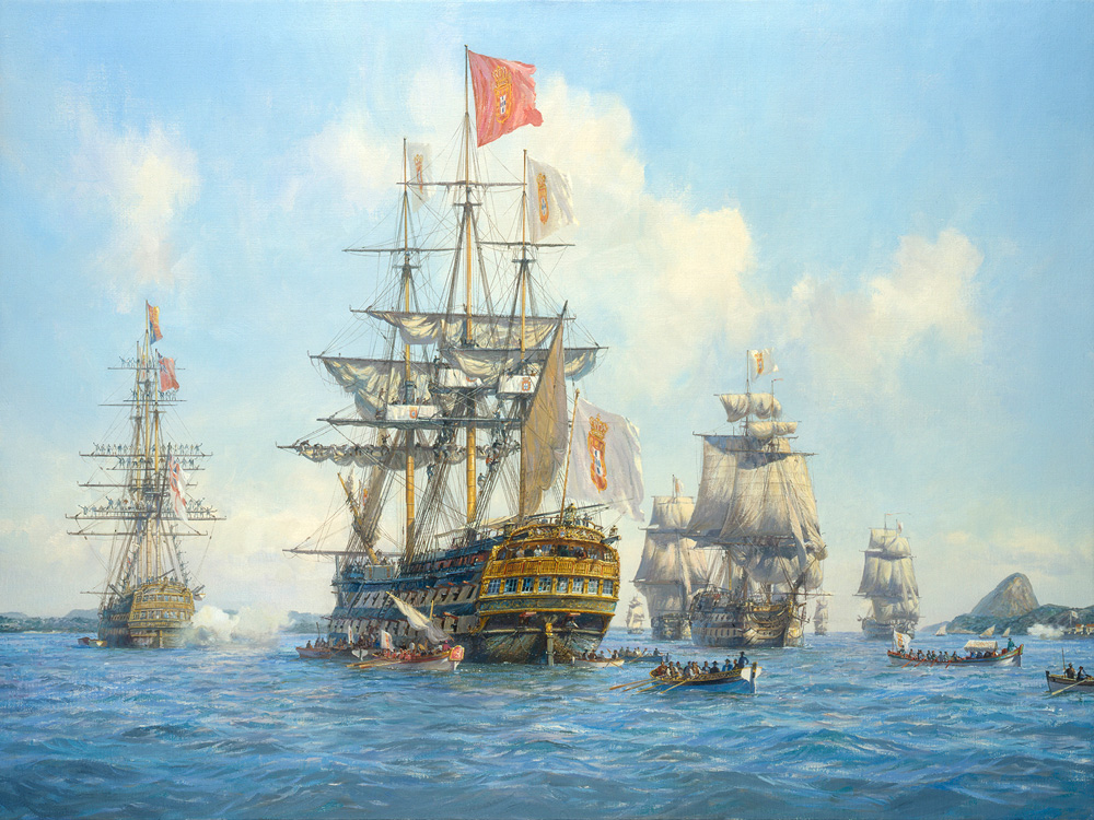 Geoff Hunt - The Arrival of the Portuguese Royal Family in Brazil, 7 March 1808