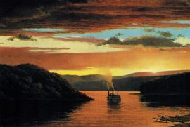Gary Lucy Limited Edition Print - The Yellowstone - Evening Sky in the Missouri River, 1833