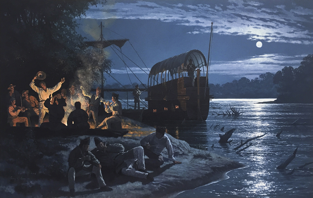 Lewis and Clark - Campsite at Tavern Creek, May 23, 1804