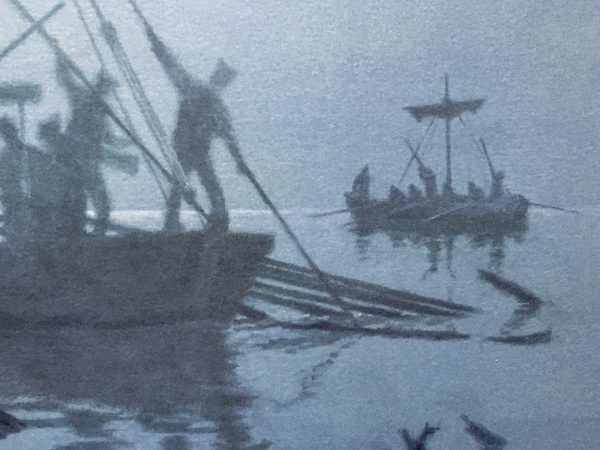Gary Lucy Limited Edition Print - Lewis and Clark - Foggy Morning on the Missouri River, 1804