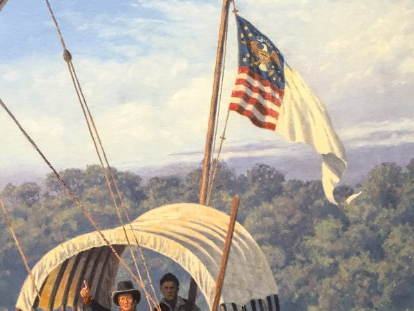 Gary Lucy Limited Edition Print - Lewis and Clark - The Departure from the Wood River Encampment, May 14, 1804