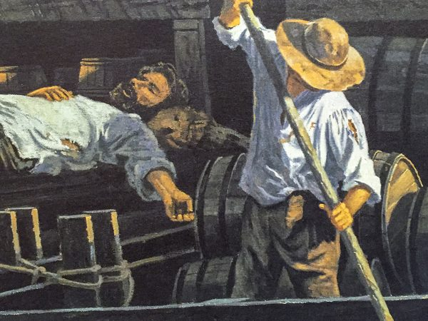Gary Lucy Limited Edition Print - Mississippi River Flatboatmen