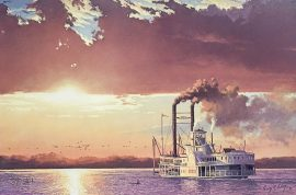 Gary Lucy Limited Edition Print - The Omaha - Westward Travels on the Missouri River, 1856