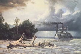 Gary Lucy Limited Edition Print - The Yellowstone - The Yellowstone in Peril, 1833