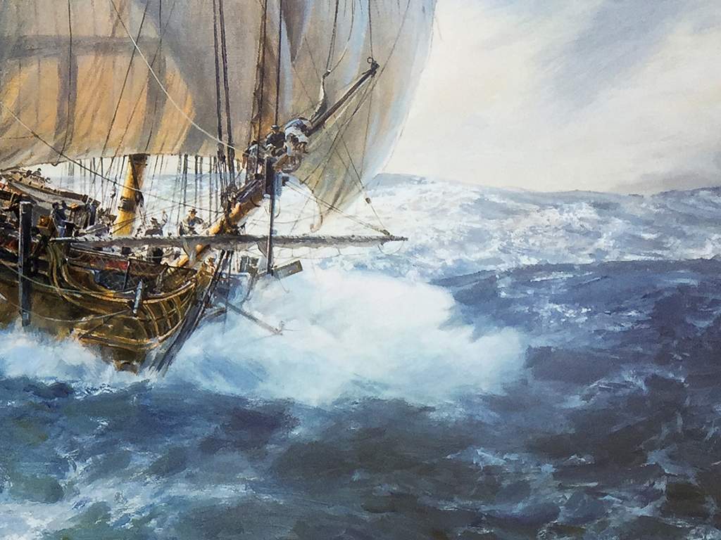 Geoff Hunt Limited Edition Print - H.M.S. Artemis ...
