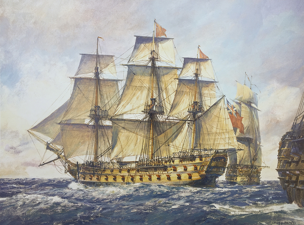 Geoff Hunt Print - H.M.S. Captain