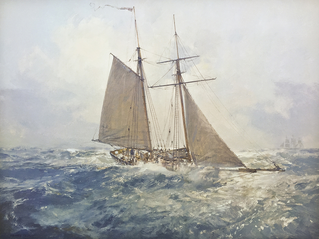 Geoff Hunt Print - H.M.S. Pickle