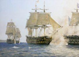 Geoff Hunt Print - H.M.S. Sutherland's Last Battle