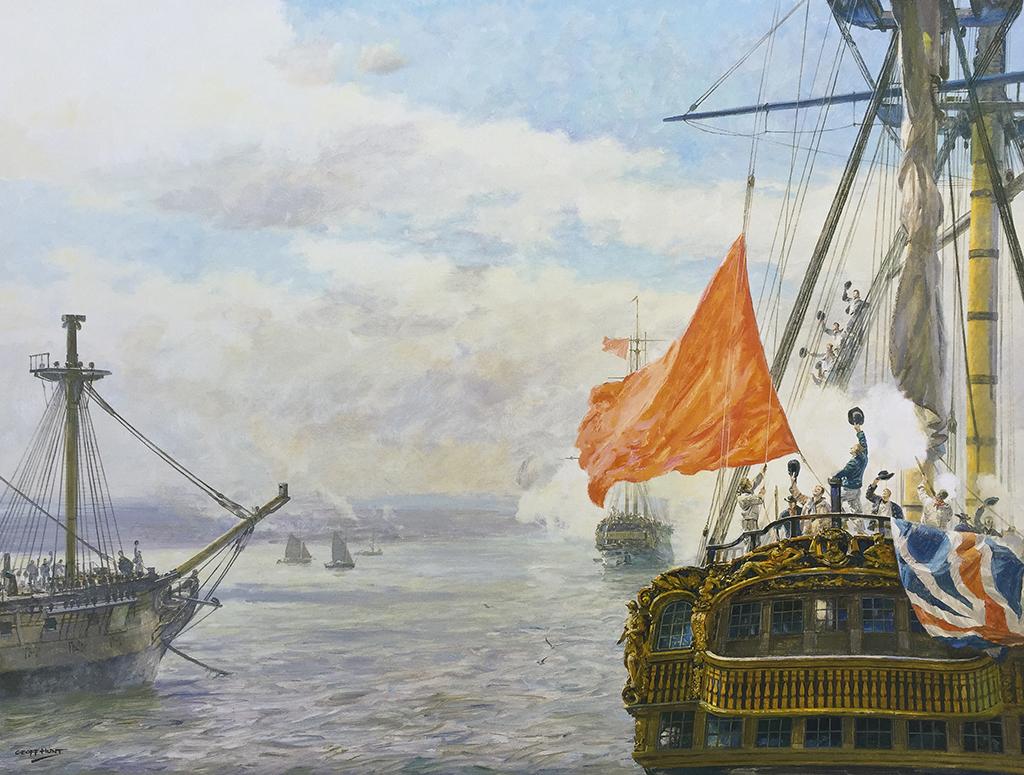 Geoff Hunt Print - Mutiny