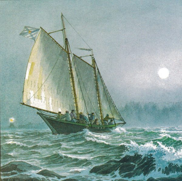 William Gilkerson Limited Edition Print - A Tancook Whaler