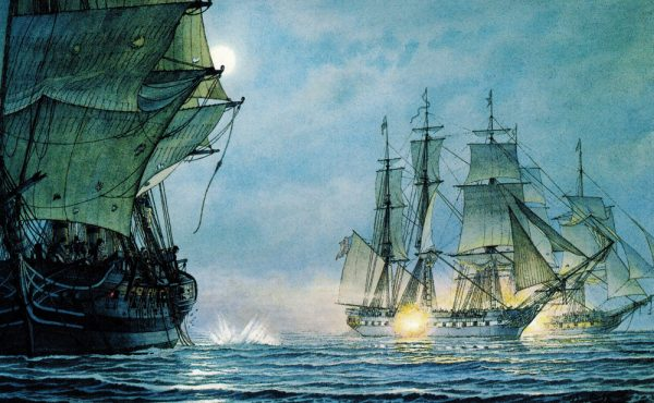 William Gilkerson Limited Edition Print - U.S.S. 'Constitution' Defeating 'Cyane' and Levant