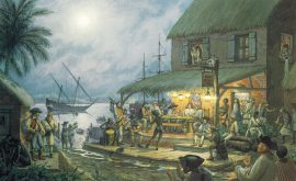 William Gilkerson Limited Edition Print - Captain William Kidd at Isle St. Marie
