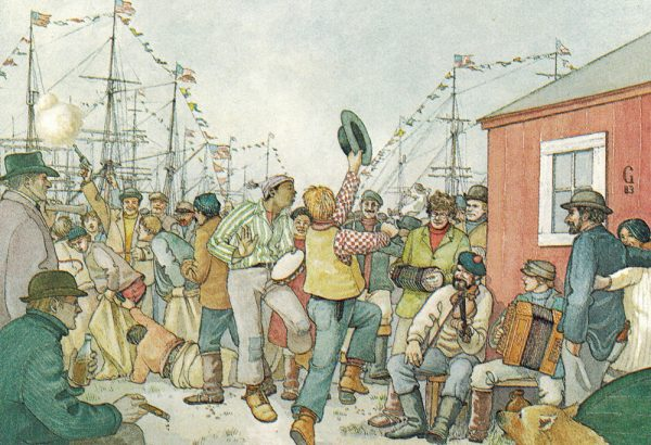 William Gilkerson Limited Edition Print - The Fourth of July Celebrated at Herschel Island