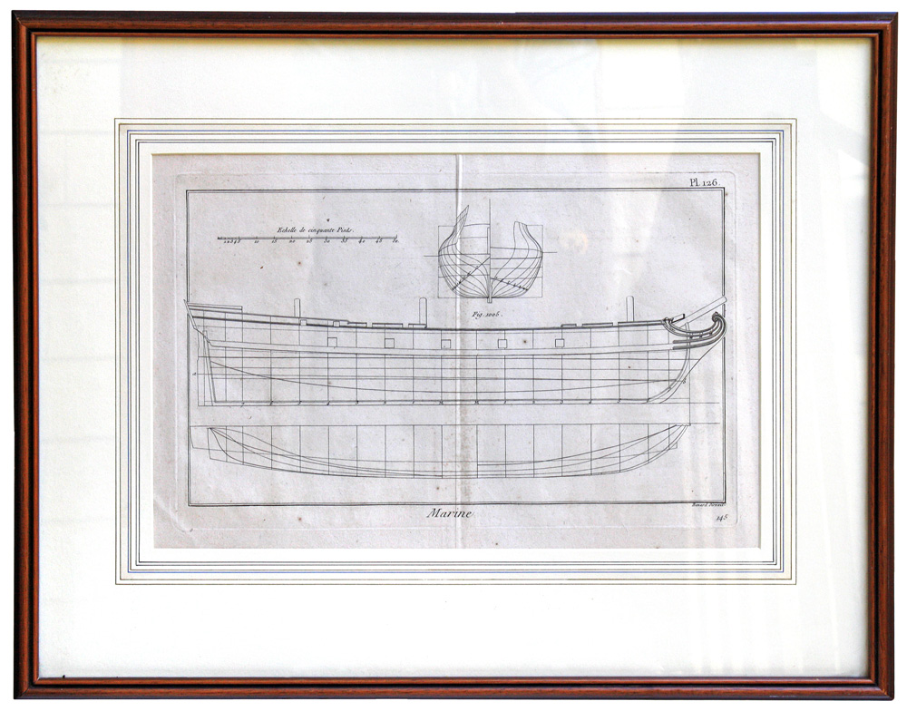 French Royal Navy Battleship Plans, 1787