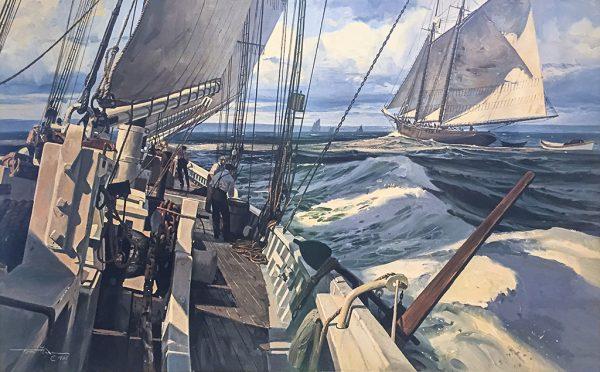 Thomas Hoyne Limited Edition Print – Running By