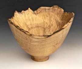 Jerry Kermode Wooden Bowl - Natural Edge Maple with Spalting Bowl