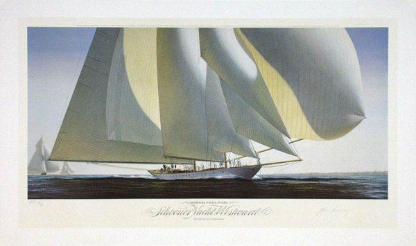 John Mecray Limited Edition Print - Under Full Sail