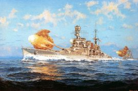 James Flood Limited Edition Print - HMS Repulse 1937