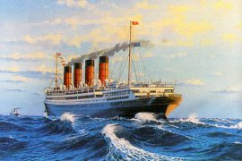James Flood Limited Edition Print - RMS Aquitania
