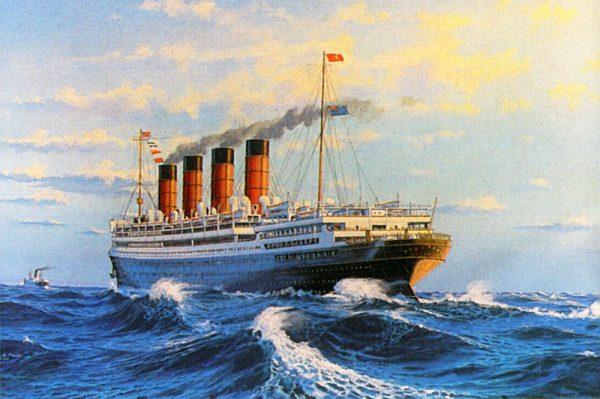 James Flood Limited Edition Print - RMS Aquitania