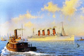 James Flood Limited Edition Print - RMS Mauretania