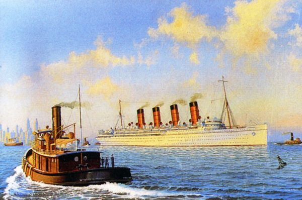 James Flood Limited Edition Print - RMS Mauretania