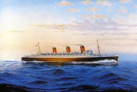 James Flood Limited Edition Print - RMS Queen Mary