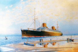 James Flood Limited Edition Print - SS Bremen