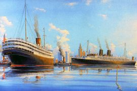 James Flood Limited Edition Print - SS Florida and Iroquois