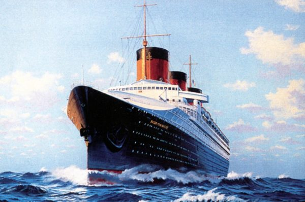 James Flood Limited Edition Print - SS Normandie