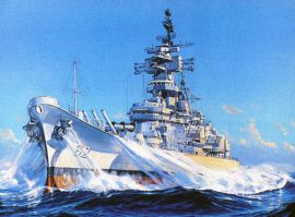 James Flood Limited Edition Print - USS New Jersey